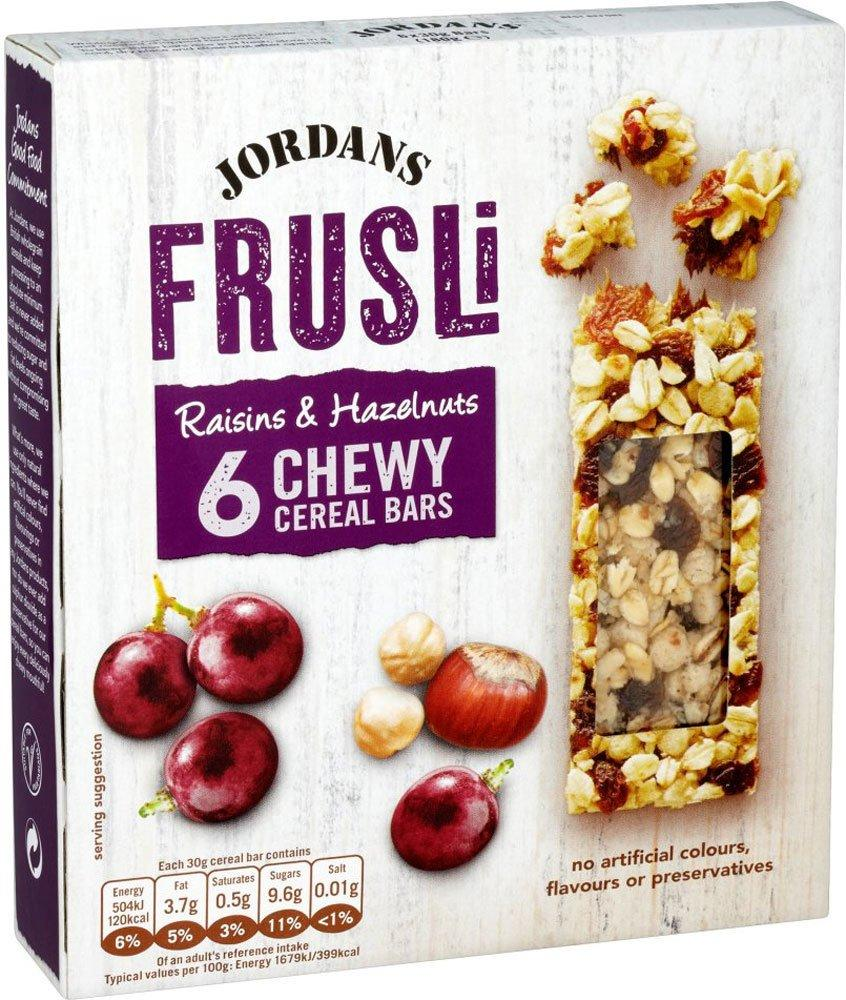 Jordans Frusli Raisins and Hazelnuts 6 Chewy Cereal Bars