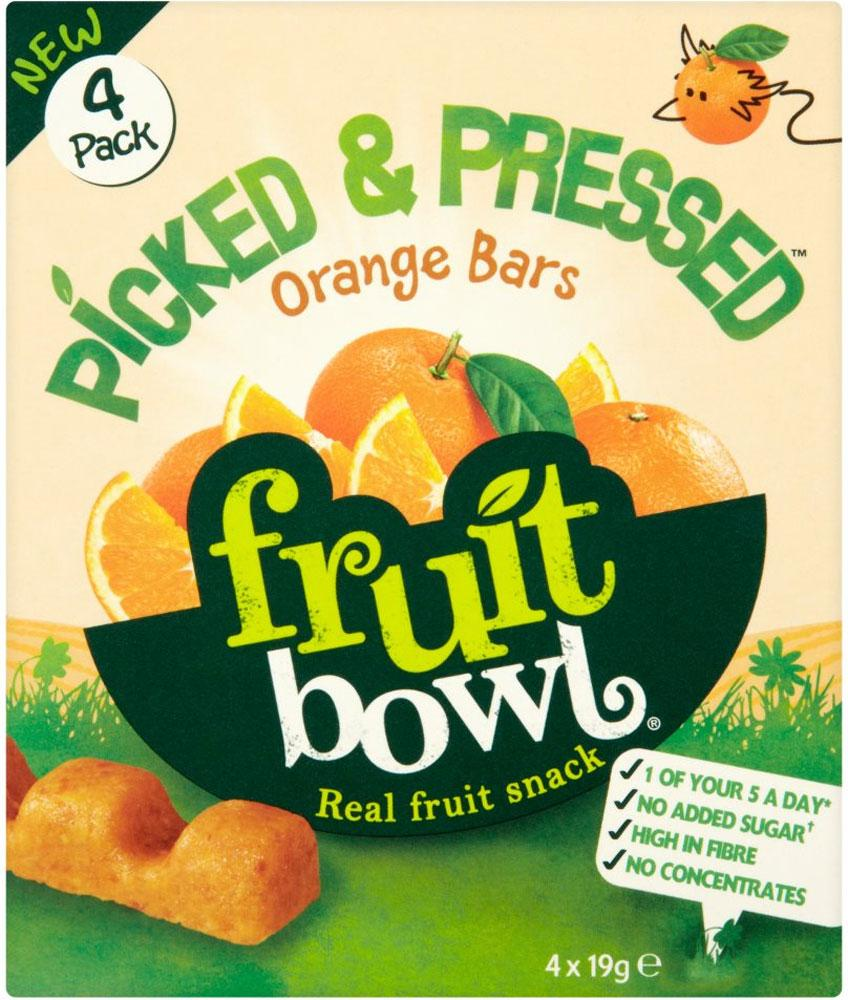 Fruit Bowl Picked and Pressed Orange Bars 19g x 4