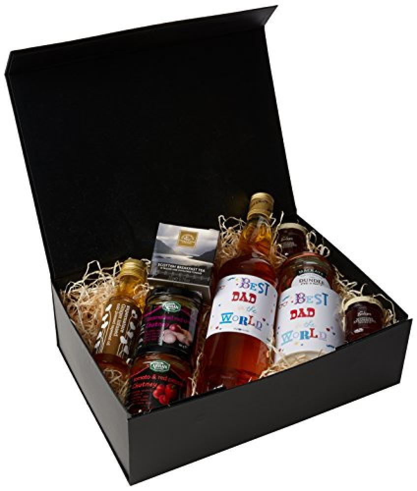 UK Giftbox Best Dad in The World Whisky Regular Size Gift Hamper