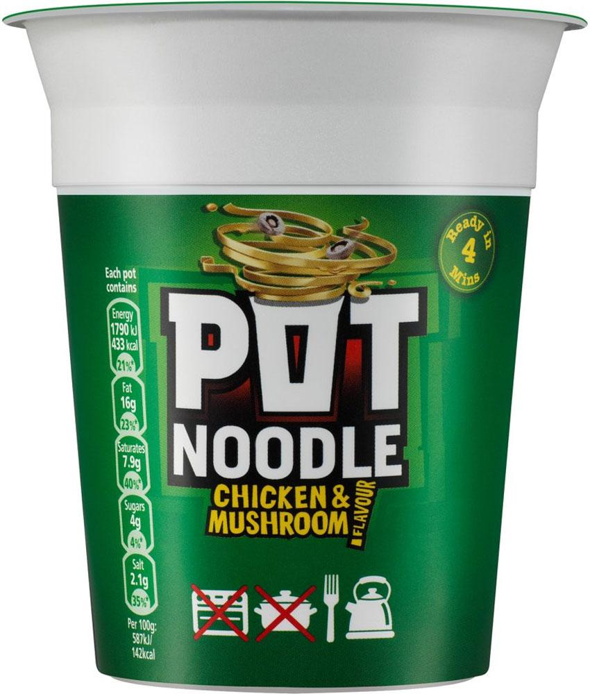 Pot Noodle Chicken and Mushroom Flavour 90g 90g 90g