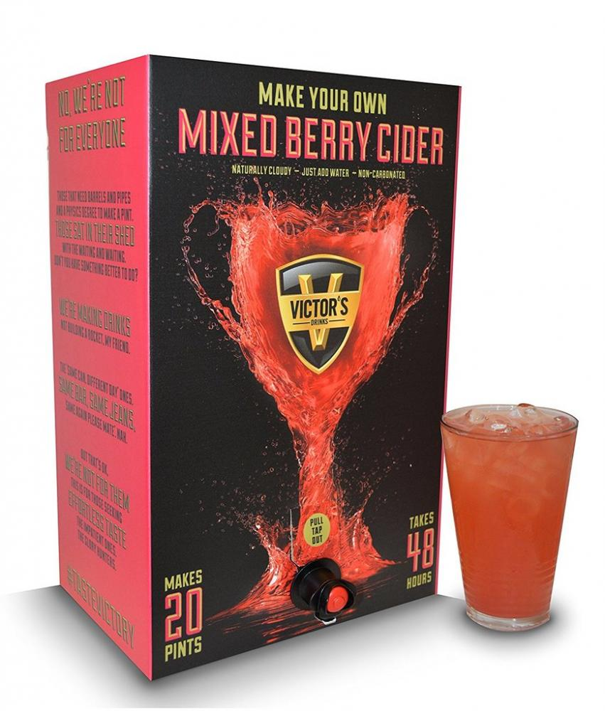 Victors Drinks Make Your Own Mixed Berry Cider 20 Pint Kit