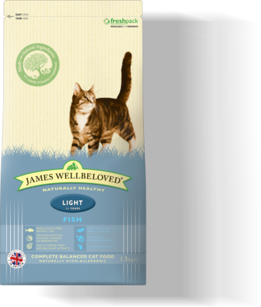 James Wellbeloved Cat Food Fish and Rice Light 1.5 kg