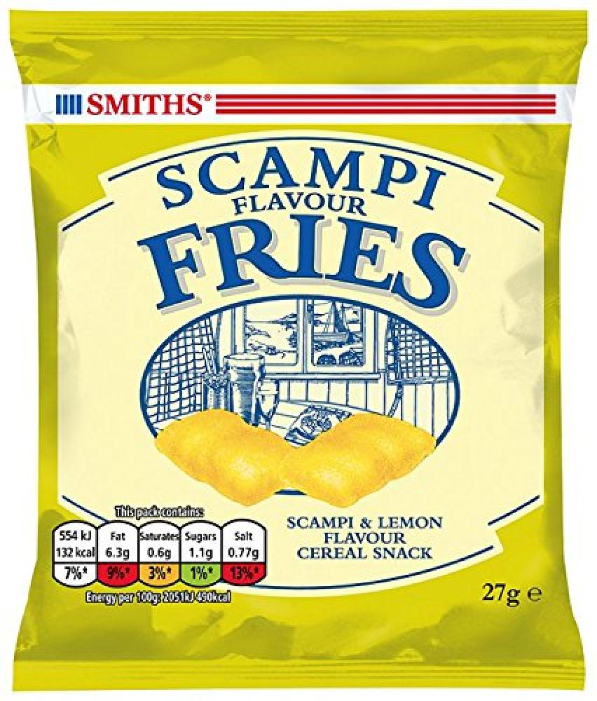 Smiths Savoury Selection Scampi and Lemon Flavour Fries Cereal Snacks 27 g