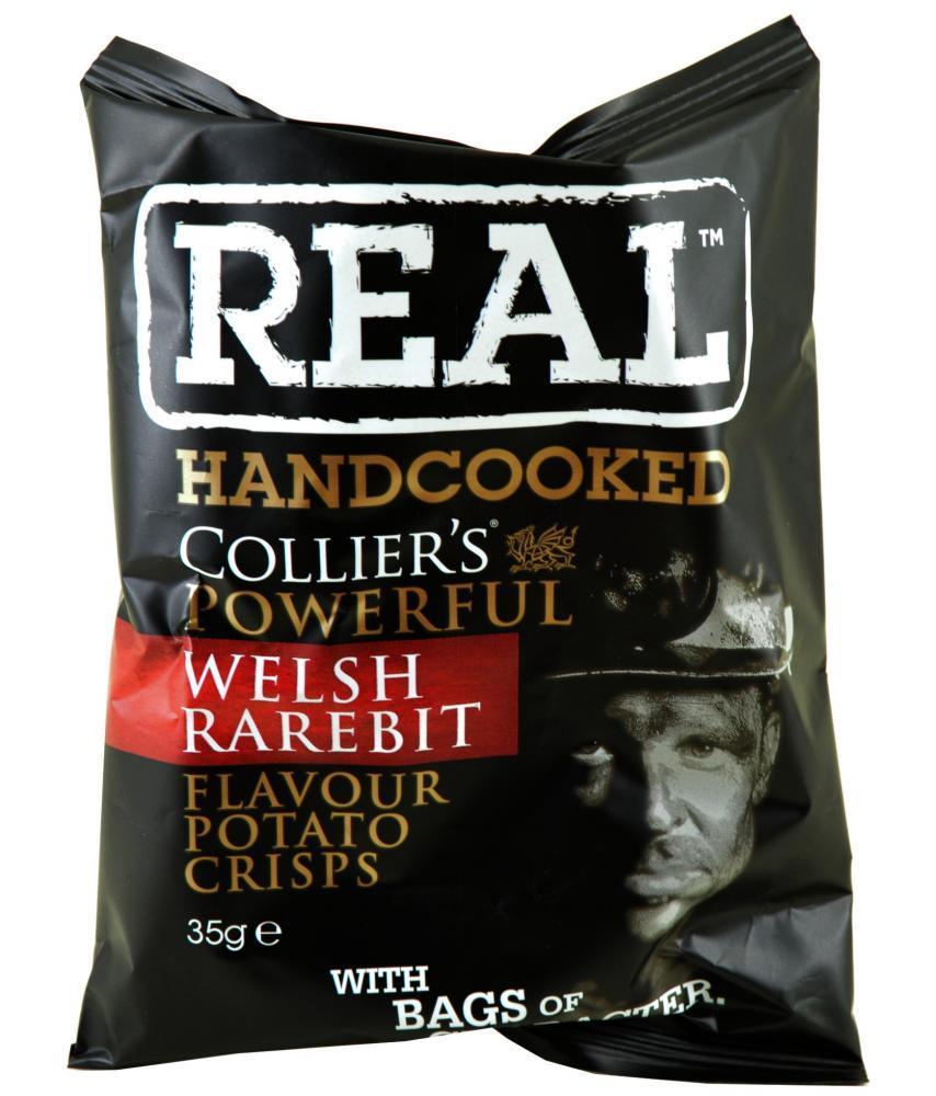 Real Handcooked Welsh Rarebit Flavour Crisps 35g