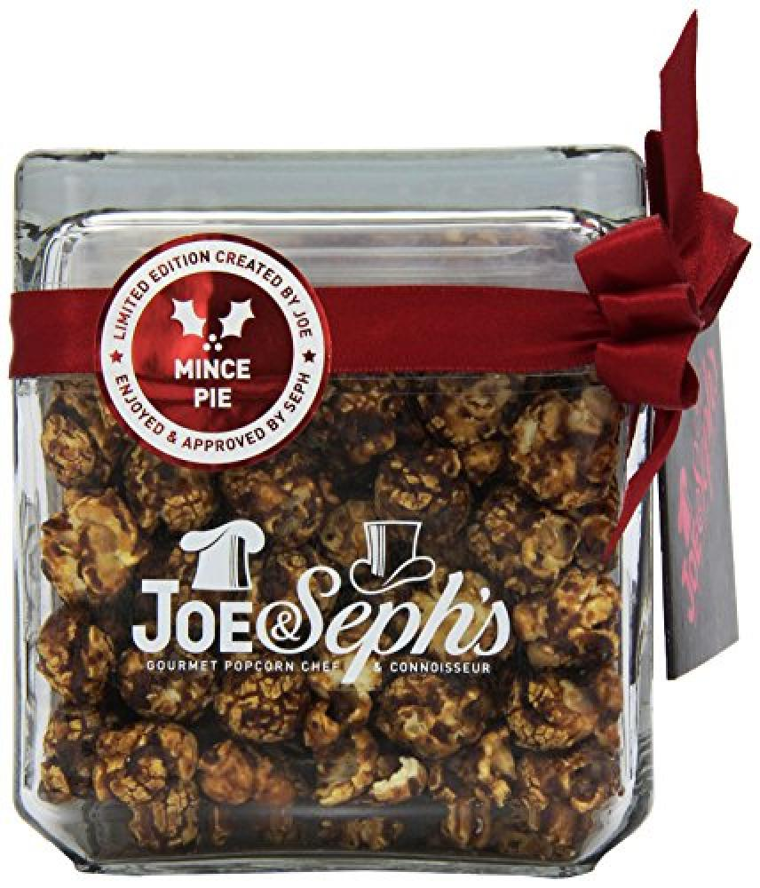 Joe & Sephs Mince Pie, Popcorn with Caramel, Brandy, Fruit and Almonds 120g