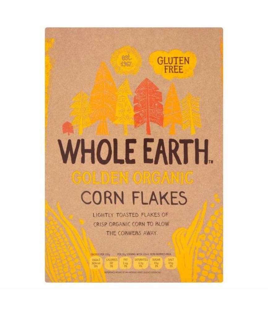 Whole Earth Golden Organic Corn Flakes 375g