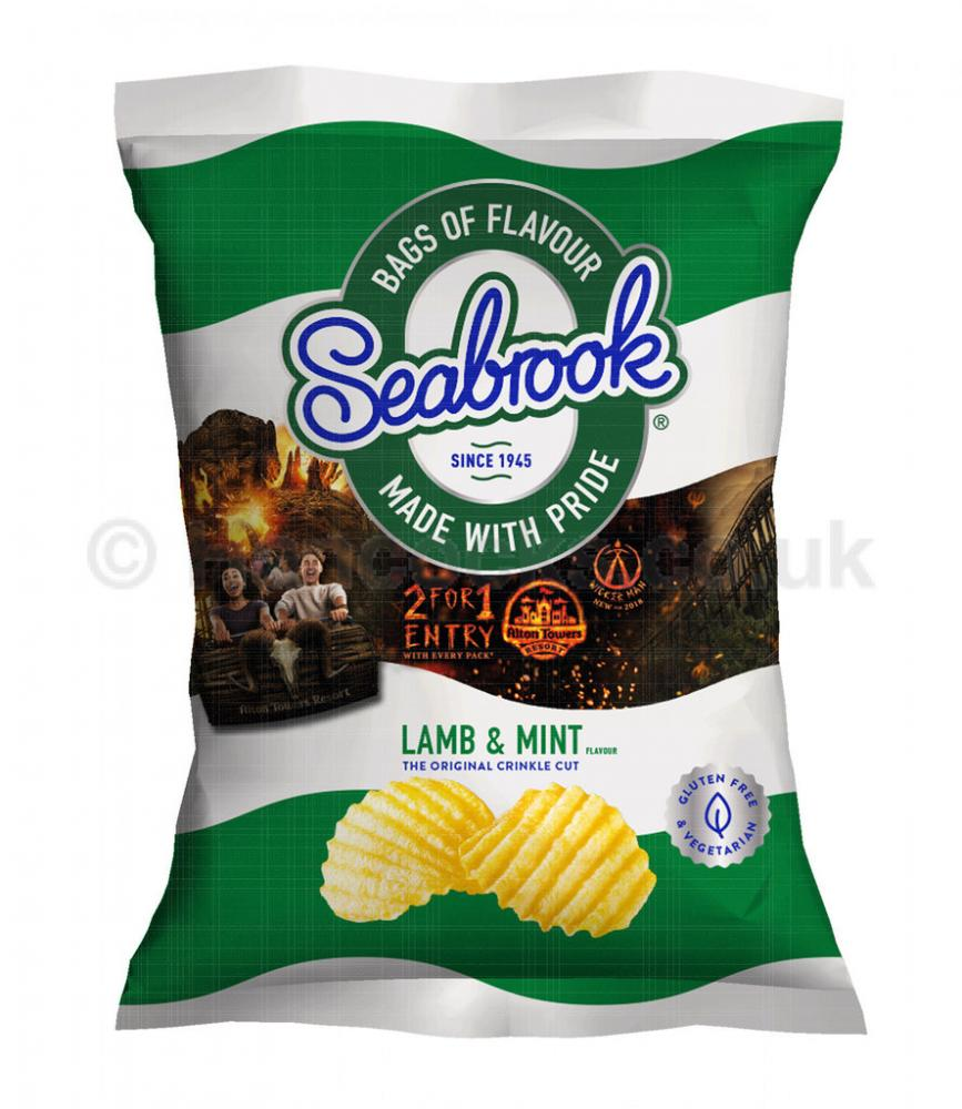 Seabrook Lamb and Mint Crinkle Cut Crisps 31.8g