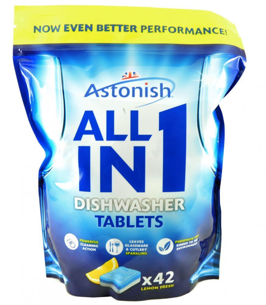 Astonish All In 1 Dishwasher Tablets Lemon Fresh 42 Pack