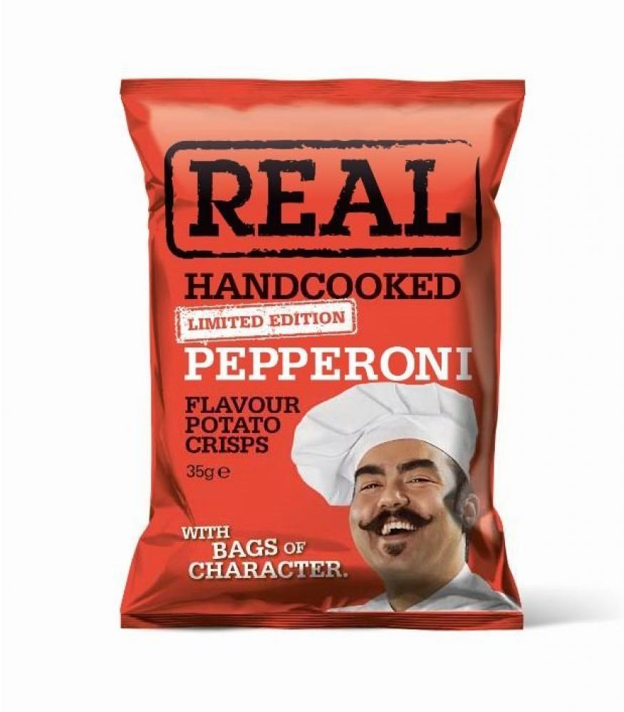 Real Handcooked Pepperoni Flavour Potato Crisps 35g