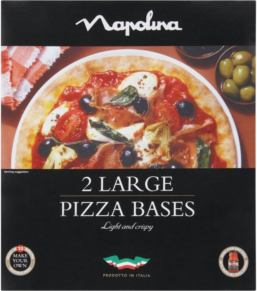 Napolina 2 Large Pizza Bases 300g