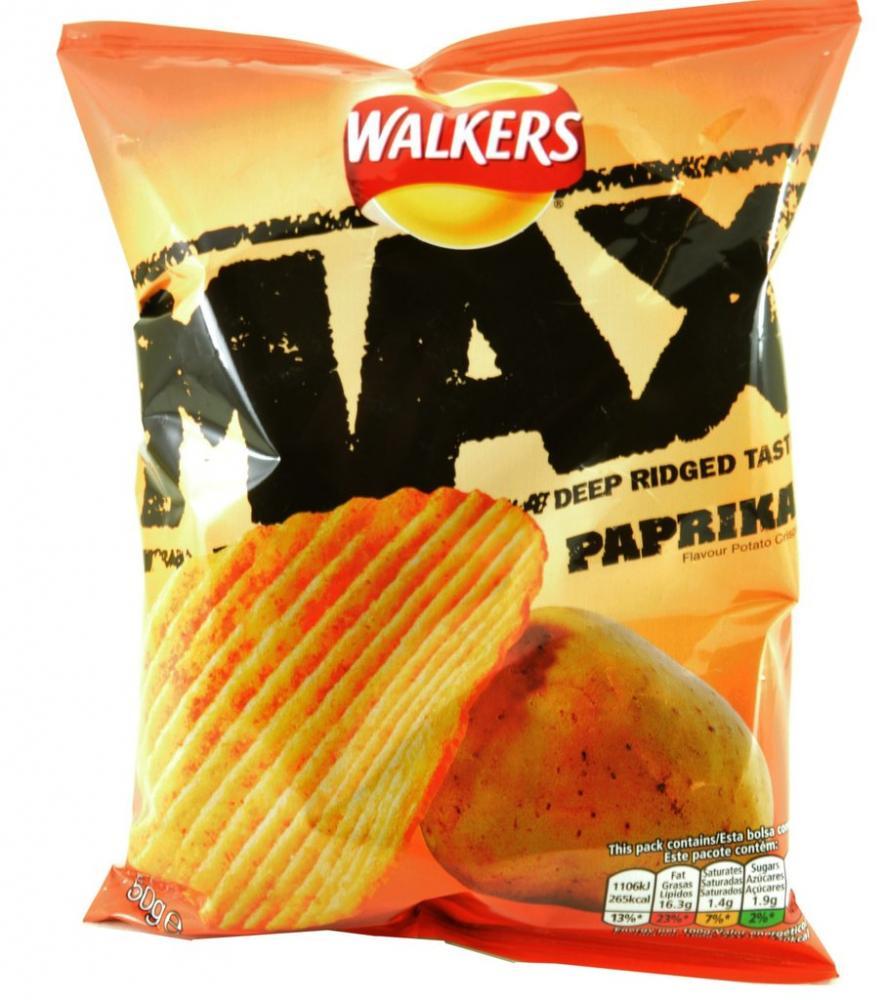Walkers Max Paprika Flavour Potato Crisps 50g