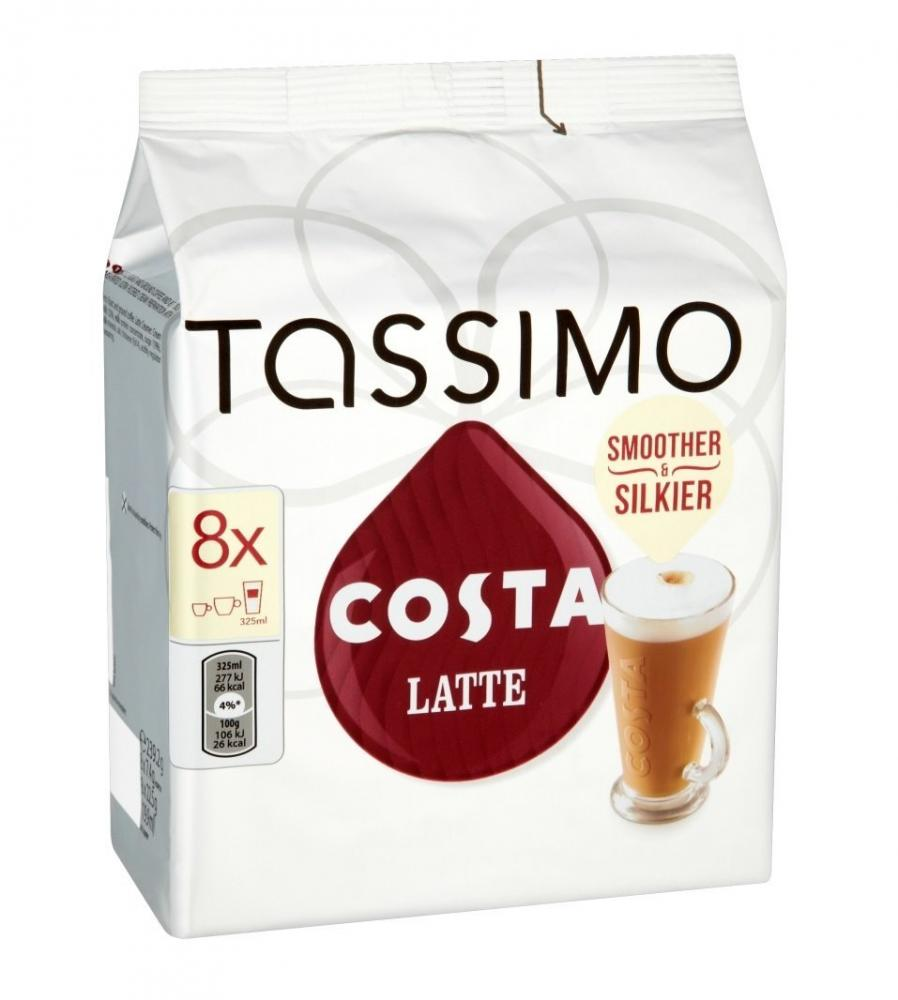 Tassimo Costa Latte coffee 16 discs 8 servings