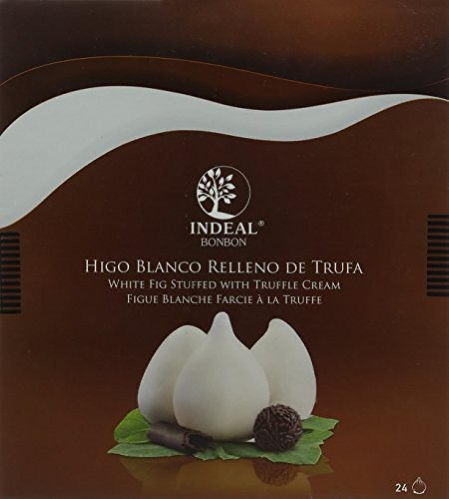 Indeal Bonbon Fig Filled Bonbons with Truffle Coated in White Chocolate.
