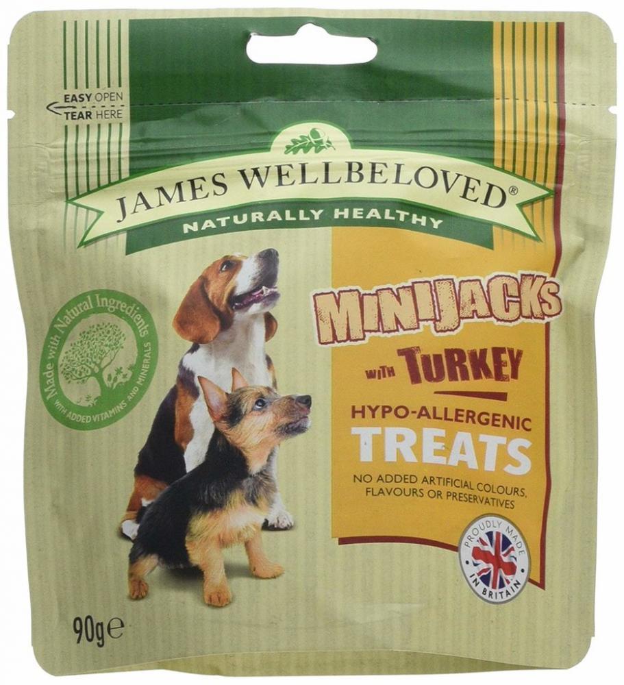 James Wellbeloved Dry Dog Food Minijacks with Turkey 90g
