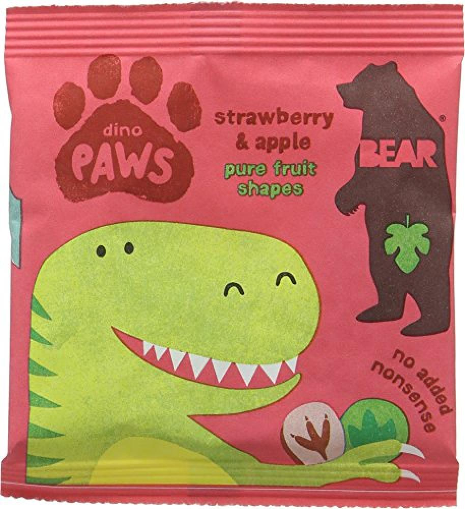 Bear Dino Paws Strawberry and Apple Fruit Shapes 20 g
