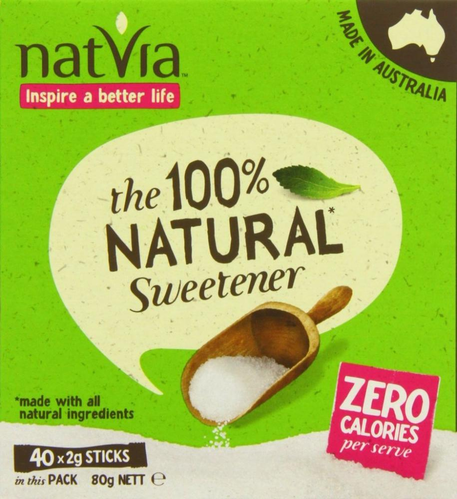 Natvia 100 Natural Sweetener 40 Sticks