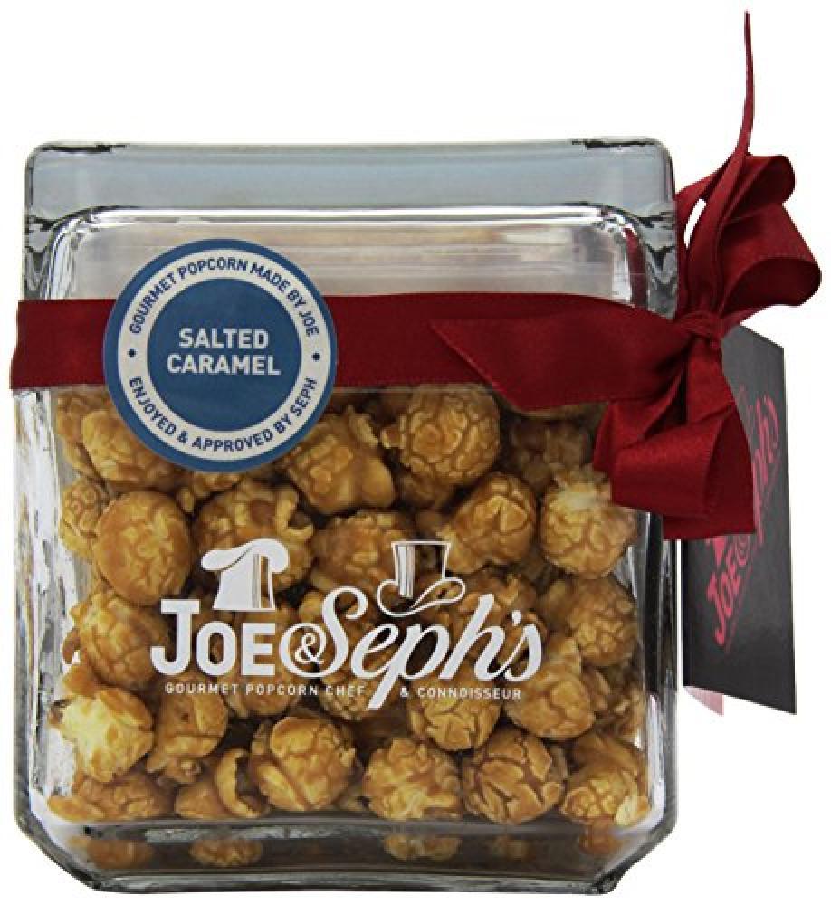 Joe & Sephs Salted Caramel Square Glass Popcorn Jar 120g