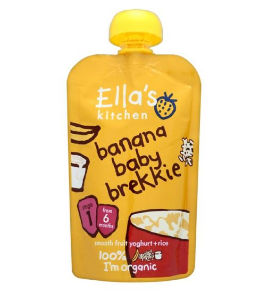 Ellas Kitchen Stage 1 From 6 Months Organic Baby Brekkie Banana 100g