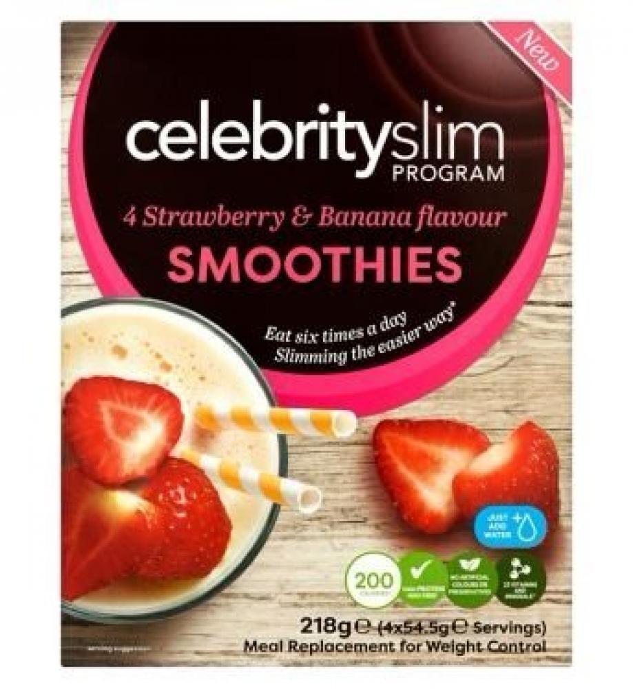 Celebrity Slim Strawberry and Banana Smoothies 4 sachets