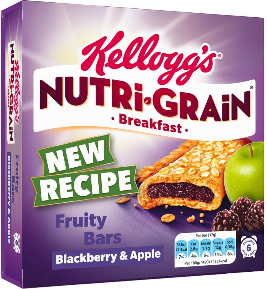 Kelloggs Nutri Grain Breakfast Fruity Bars Blackberry and Apple 37g x 6