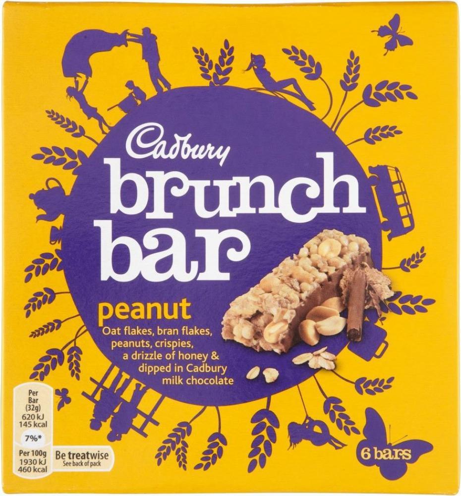 Cadbury Brunch Bar Peanut 6 x 32g