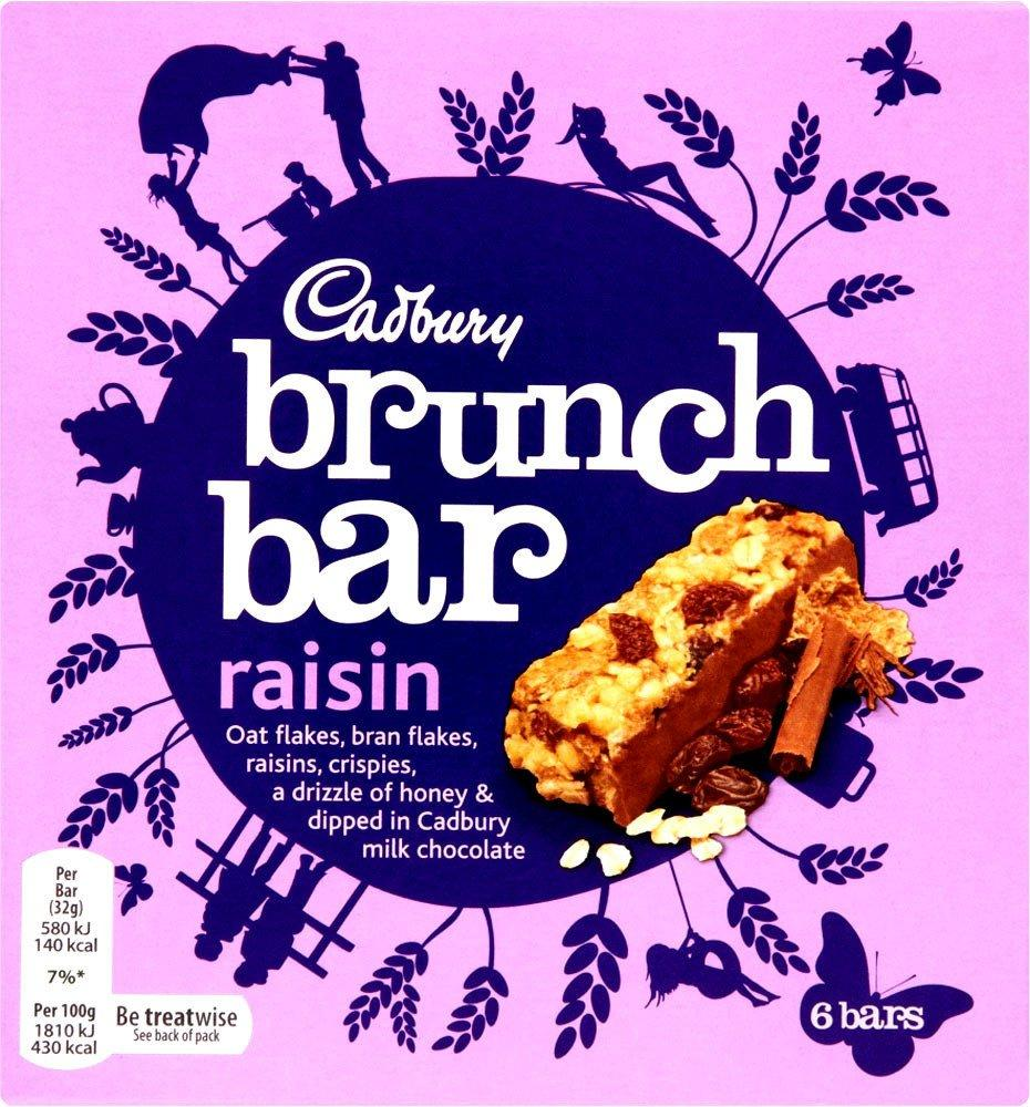 Cadbury Brunch Bar Raisin 32g x 6