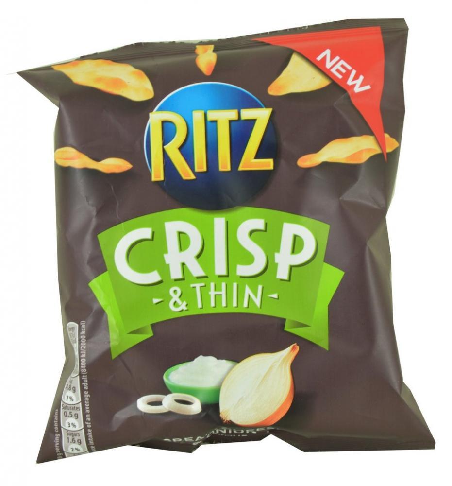 Ritz Crisp and Thin Cream Cheese and Onion 30g