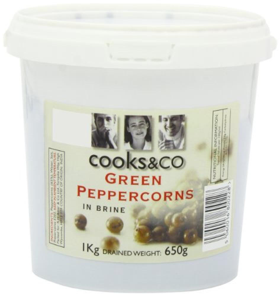 Cooks and Co Green Peppercorns in Brine 1 Kg