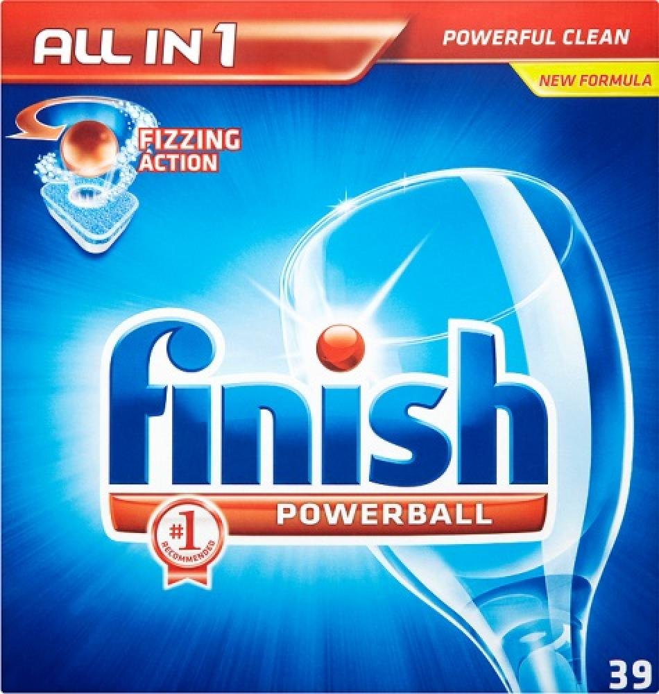 Finish All in 1 Powerball Dishwasher Tablets 39 Pack