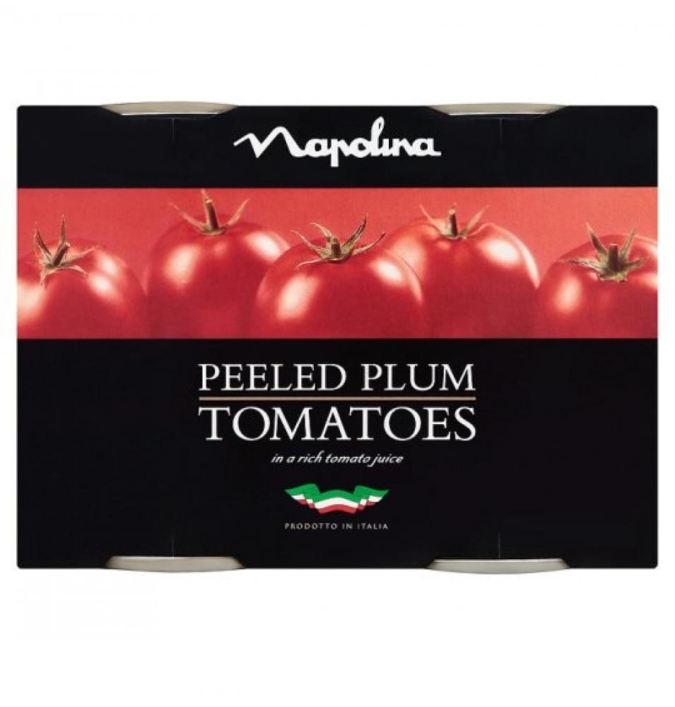 TODAY ONLY  Napolina Peeled Plum Tomatoes 400g x 2