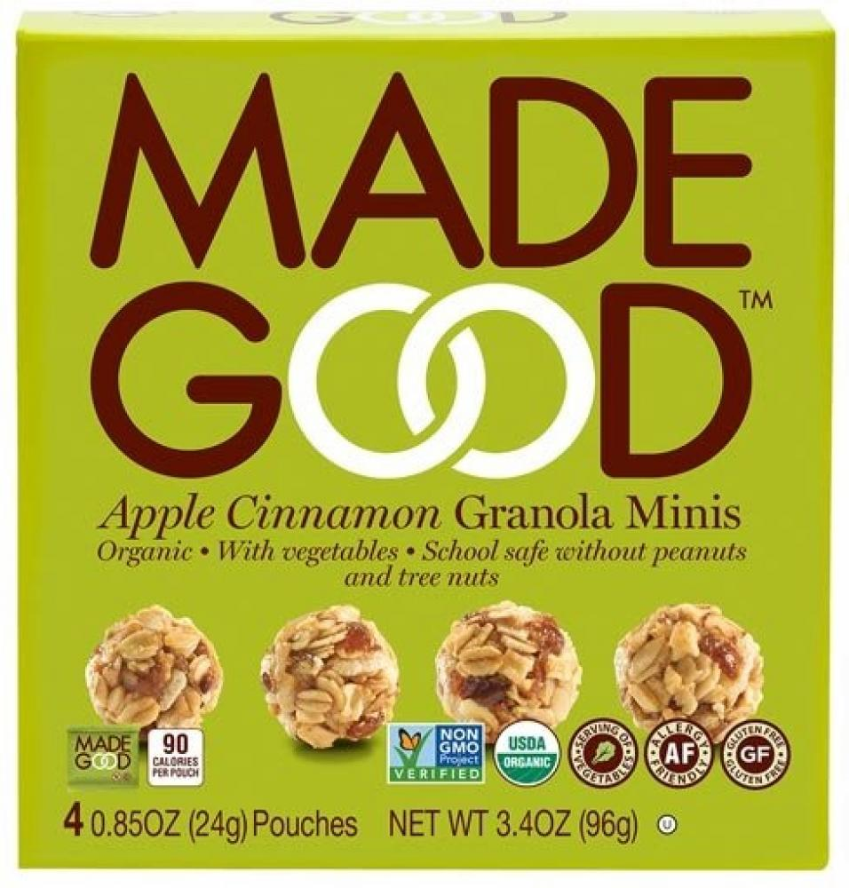 Made Good Apple and Cinnamon Granola Minis 24g x 4