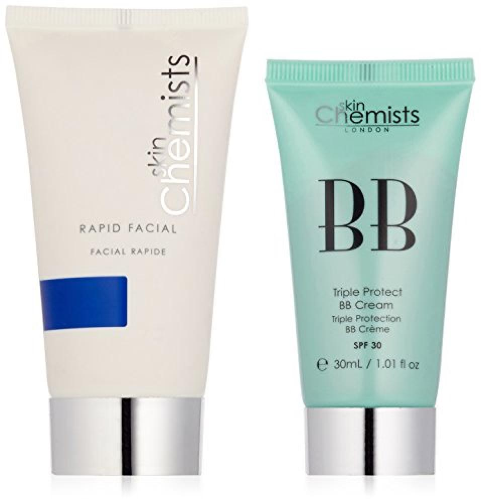 skinChemists Triple Protect BB Cream Medium SPF30 and Rapid Facial Set 30ml50ml