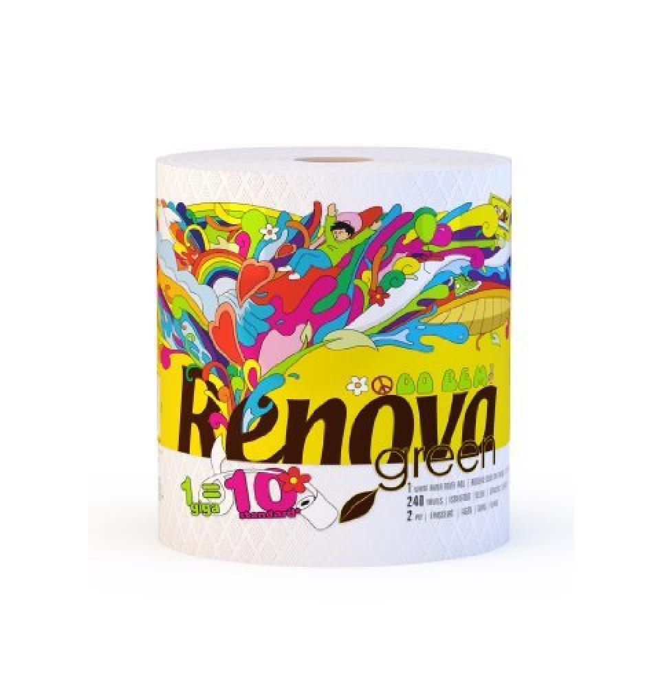 Renova 100 Percent Recycled Paper Towel Giga Roll Single
