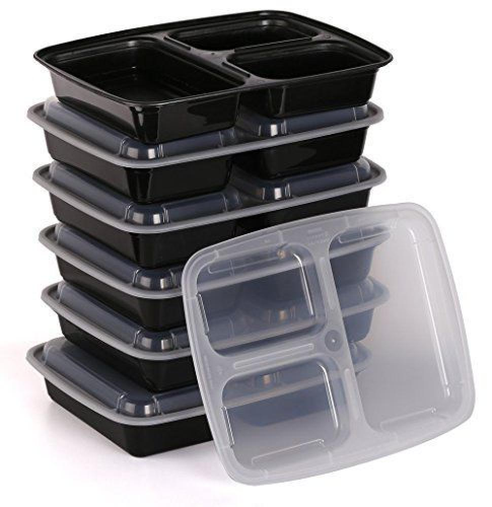 Carolyns Catering Company 3 Compartment Food Storage Containers