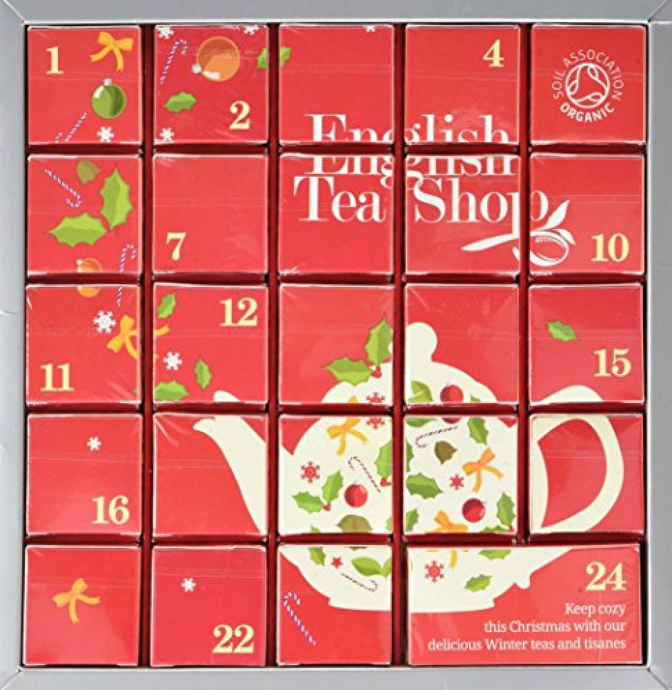 English Tea Shop Organic Christmas Tea Collectin - Advent Calendar 24 Teabags 48g