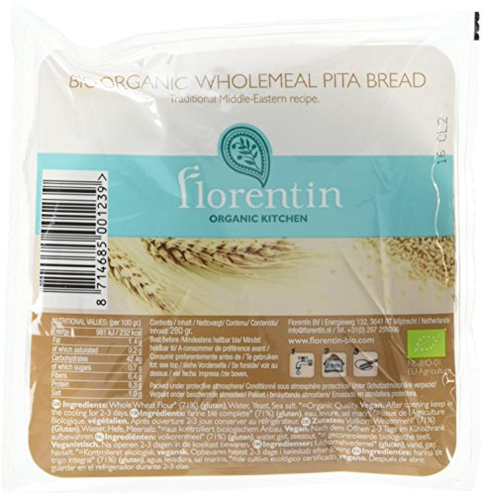 Florentin Pitta Bread Wholemeal 280 g