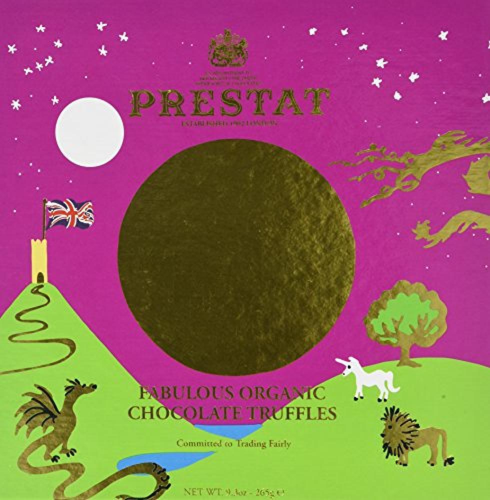 Prestat Organic Fabulous Chocolate Truffles Selection Box 24 pieces