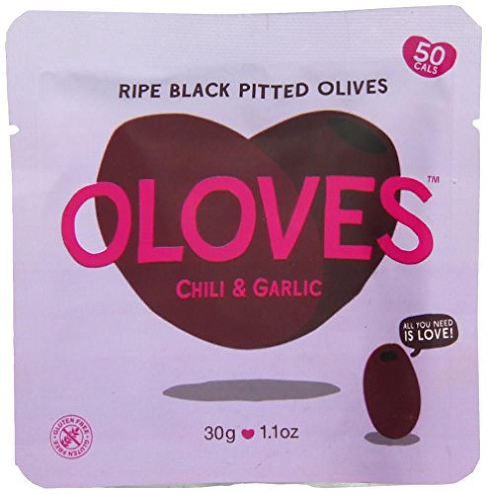 Oloves Juicy Plump Olives Bathing in Spicy Chili and Garlic 30 g