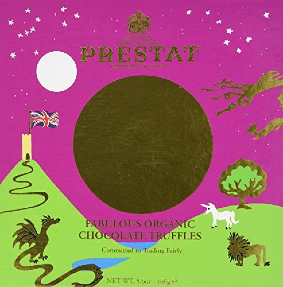 Prestat Organic Fabulous Chocolate Truffles Selection Box 160g