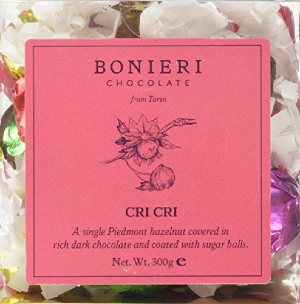 Bonieri Cri Hazelnut Chocolate in Transparent Cube 300 g