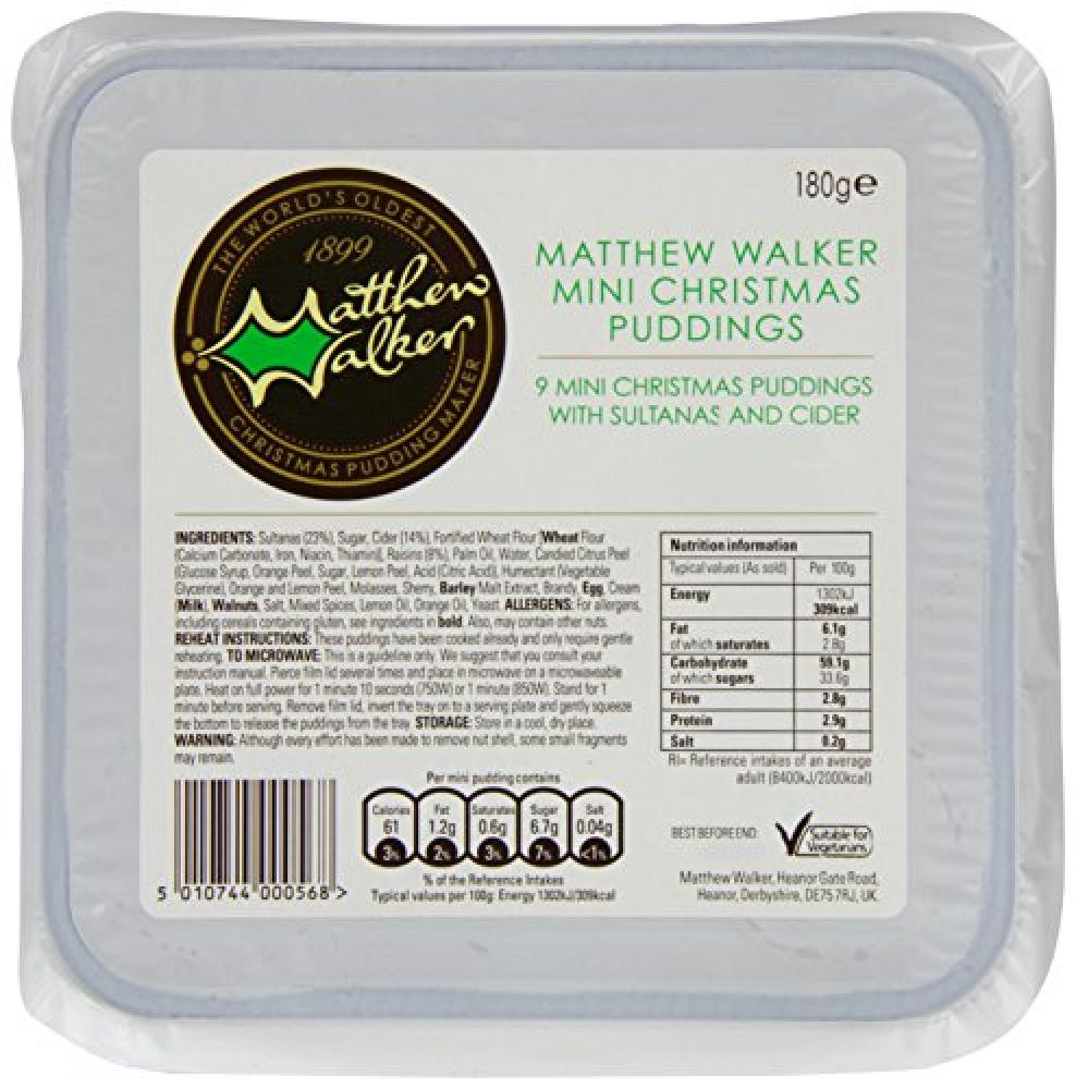 Matthew Walker Mini Christmas Pudding 9 x 20 g