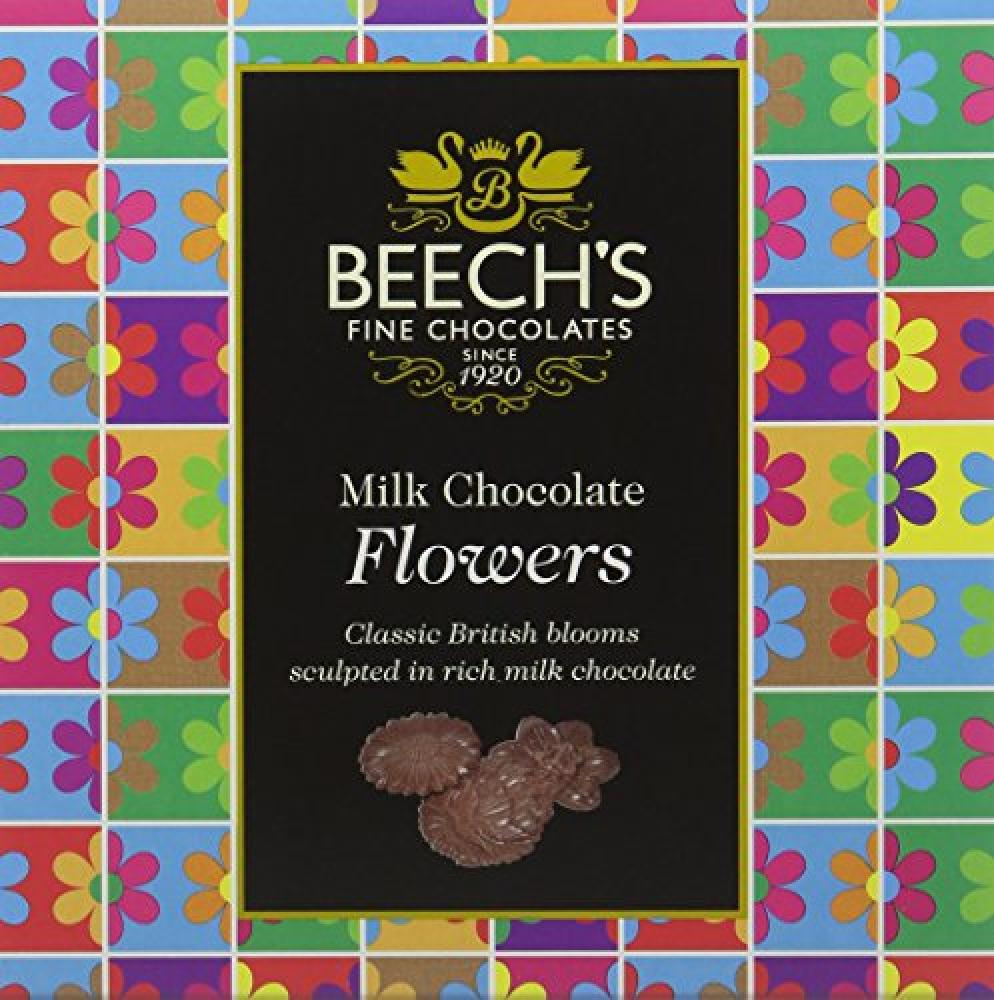 Beechs Fine Chocolate Milk Chocolate Flowers 90g