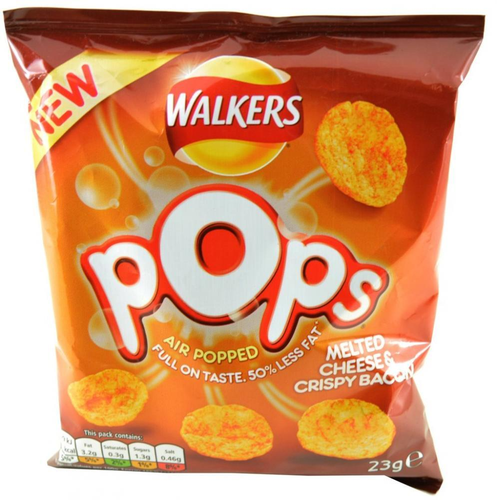 Walkers Pops Melted Cheese and Crispy Bacon 23g