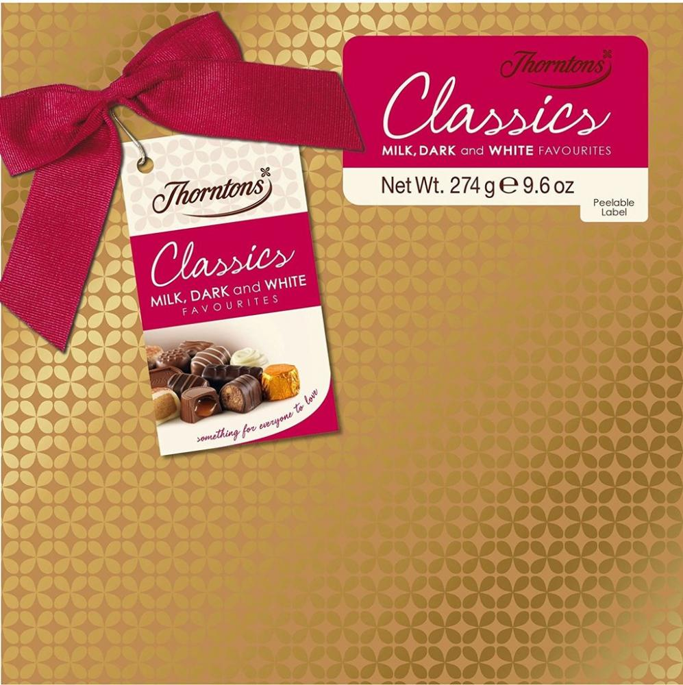 Thorntons Classics Gift Wrapped Milk White Dark 274 g