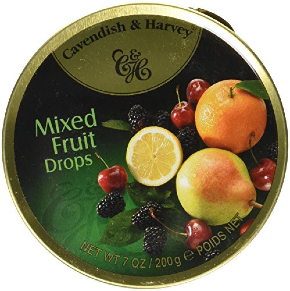 Cavendish and Harvey Travel Tin Mixed Fruit Drops 200 g