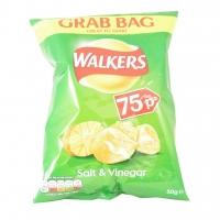 Image of Walkers Salt And Vinegar Flavour Crisps Grab Bag 50g