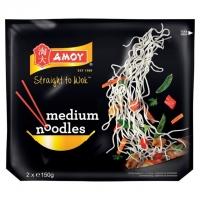 Image of Amoy Straight To Wok Medium Noodles 150g x 2