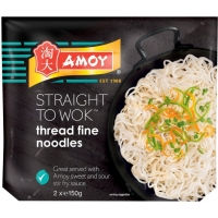 Image of Amoy Straight To Wok Thread Fine Noodles 150g x 2