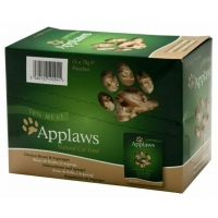 Image of CASE PRICE Applaws Natural Cat Food Chicken Breast With Asparagus 12 x 70g