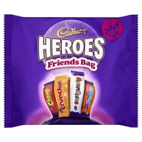 Image of MEGA DEAL Cadbury Heroes Friends Bag 225g